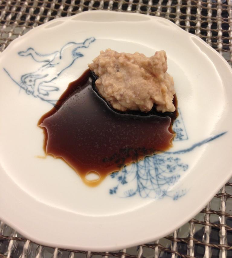 カワハギの肝醤油
