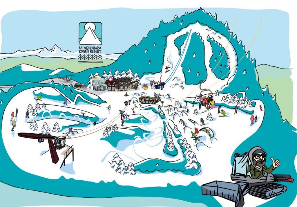 峰の原高原リゾートのマップ